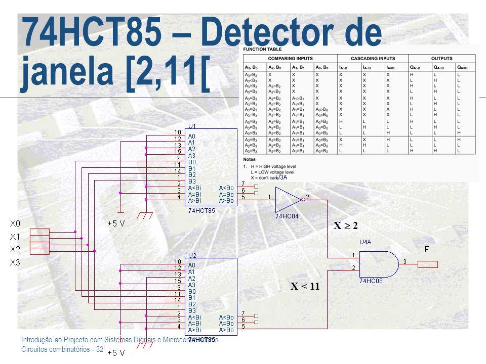 74HCT85 – Detector de janela [2,11[